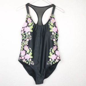 NWOT Playa Swim Block Floral Print One Piece